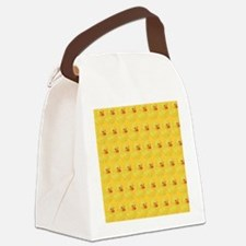 Rubber Duck Pattern Canvas Lunch Bag