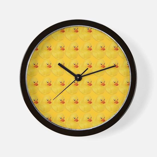 Rubber Duck Pattern Wall Clock