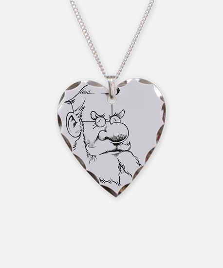 Alfred Wallace, caricature Necklace