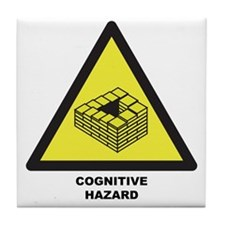 Cognitive Hazard Tile Coaster