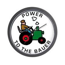power to the bauer (farmer) Wall Clock