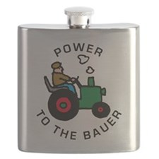 power to the bauer (farmer) Flask