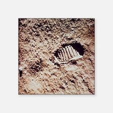 "Apollo 11 footprint on Luna Square Sticker 3"" x 3"""