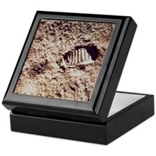 Apollo 11 footprint on Lunar soil Keepsake Box