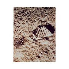 Apollo 11 footprint on Lunar soil Twin Duvet