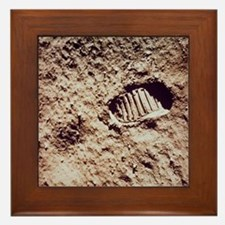Apollo 11 footprint on Lunar soil Framed Tile
