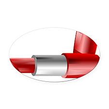 Lipstick Oval Car Magnet