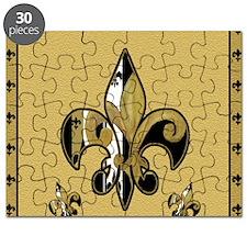 Black and Gold fleur de lis Puzzle