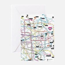 Love map Greeting Card