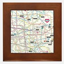 Love map Framed Tile