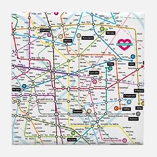 Love map Tile Coaster