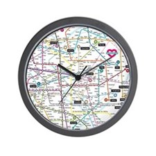 Love map Wall Clock