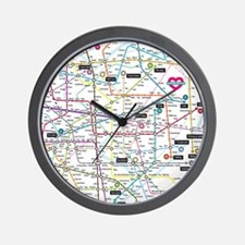 Love map Wall Clock