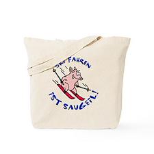 Pistensau skiing pig Tote Bag