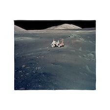 Apollo 17 astronauts Throw Blanket