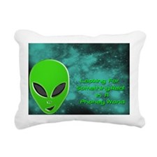 Alien Thoughts Rectangular Canvas Pillow