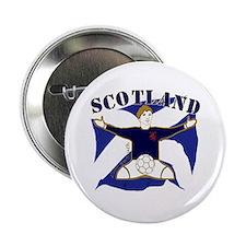 "Scotland Saltire Footballer Celebrate 2.25"" Button"