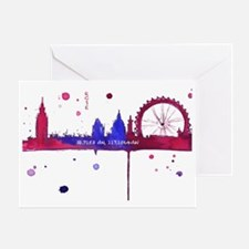 London Melting Greeting Card