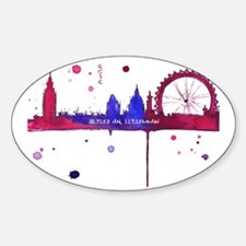 London Melting Sticker (Oval)