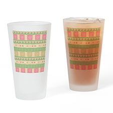 Cute Hearts Pattern Drinking Glass