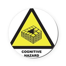 Cognitive Hazard Cork Coaster