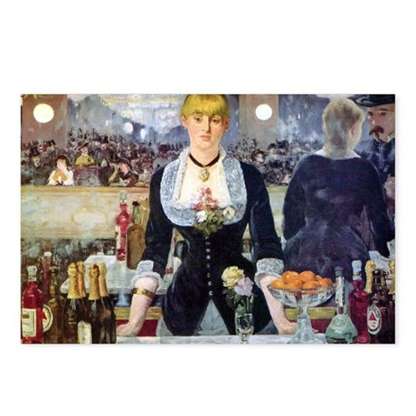 Édouard Manet Bar at the Postcards (Package of 8)