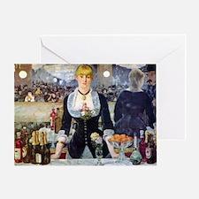 Édouard Manet Bar at the Folies Greeting Card