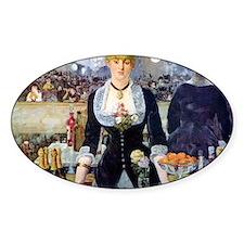 Édouard Manet Bar at the Folies Decal