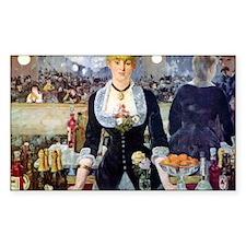Édouard Manet Bar at the Folie Decal