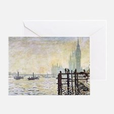 Claude Monet Westminster Bridge Greeting Card