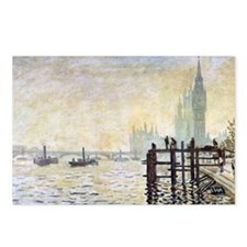 Claude Monet Westminster  Postcards (Package of 8)