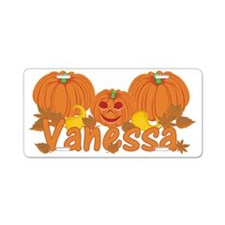 Halloween Pumpkin Vanessa Aluminum License Plate