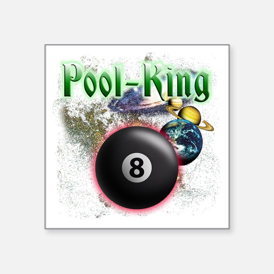 "pool king Square Sticker 3"" x 3"""