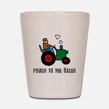 power to the bauer (farmer) Shot Glass