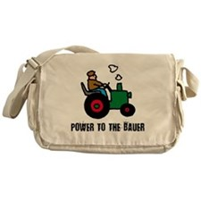 power to the bauer (farmer) Messenger Bag