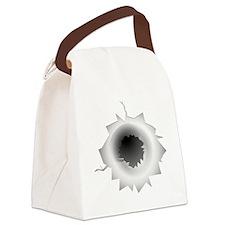 Bullet Hole Canvas Lunch Bag