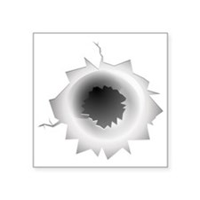 "Bullet Hole Square Sticker 3"" x 3"""
