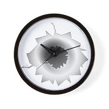 Bullet Hole Wall Clock