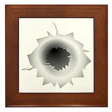 Bullet Hole Framed Tile