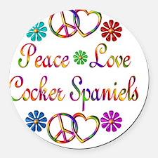 Cocker Spaniels Round Car Magnet