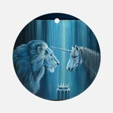 The Lion  The Unicorn Round Ornament