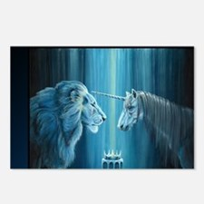 The Lion  The Unicorn Postcards (Package of 8)