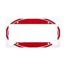 31.1 50k oval red decal stick License Plate Holder