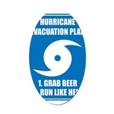 Hurricane Evacuation Plan Oval Car Magnet