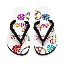 Peace Love Newfoundlands Flip Flops