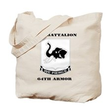 DUI - 4th Bn 64th Armor with Text Tote Bag