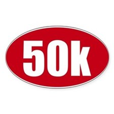 50k 31.1 red oval decal sticker Decal