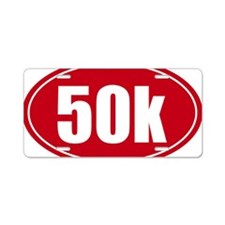 50k 31.1 red oval decal sti Aluminum License Plate