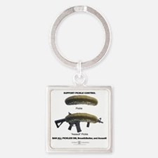 Pickle Control Square Keychain