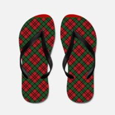 Christmas plaid Flip Flops